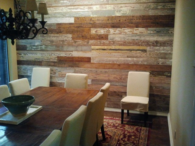 Reclaimed wood wall old texas wood for Using reclaimed wood on walls