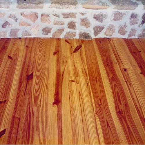Pine Floor – In Front of Fireplace