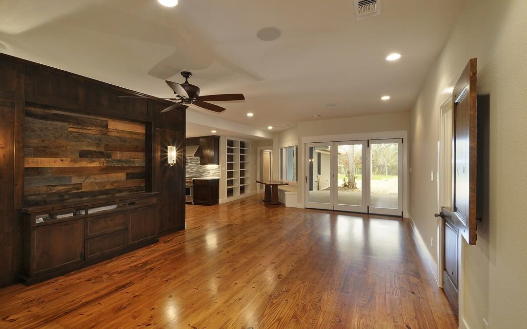 Pine Floor with Oak Accents
