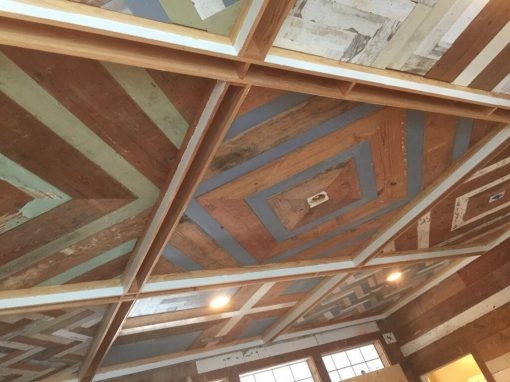 Painted pine ceiling