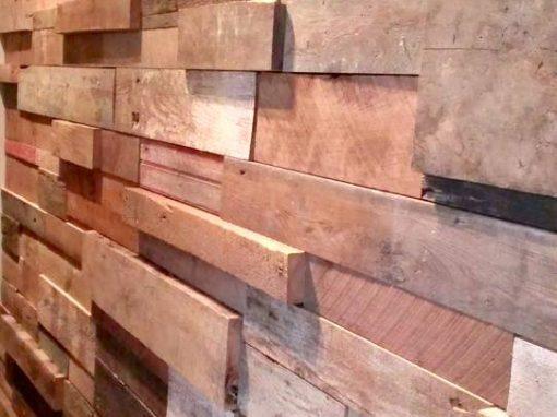 3D Mixed Wood Wall