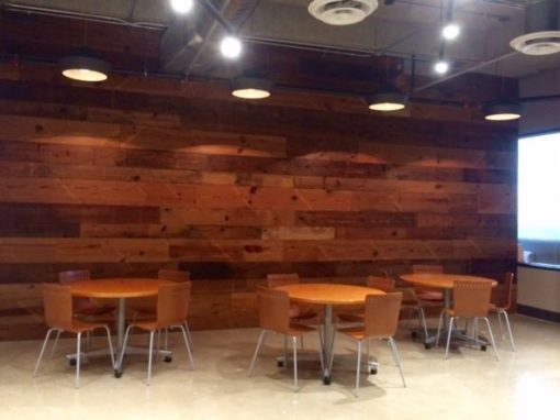 Pine break room wall, architect office