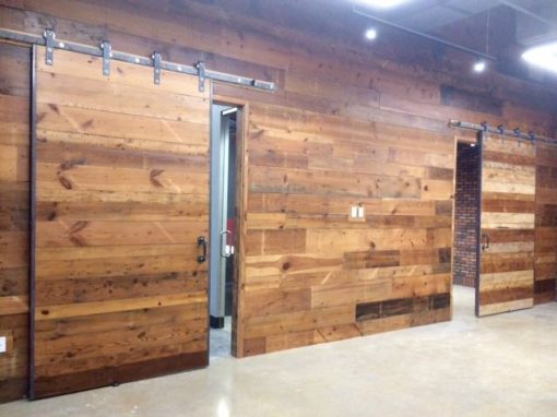 Varied widths pine wall/sliding barn doors
