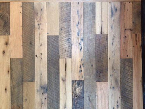 Sliding barn door/ mixed color & texture of oak