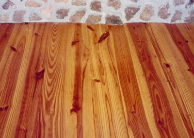 Pine Floor – In Front of Fireplace