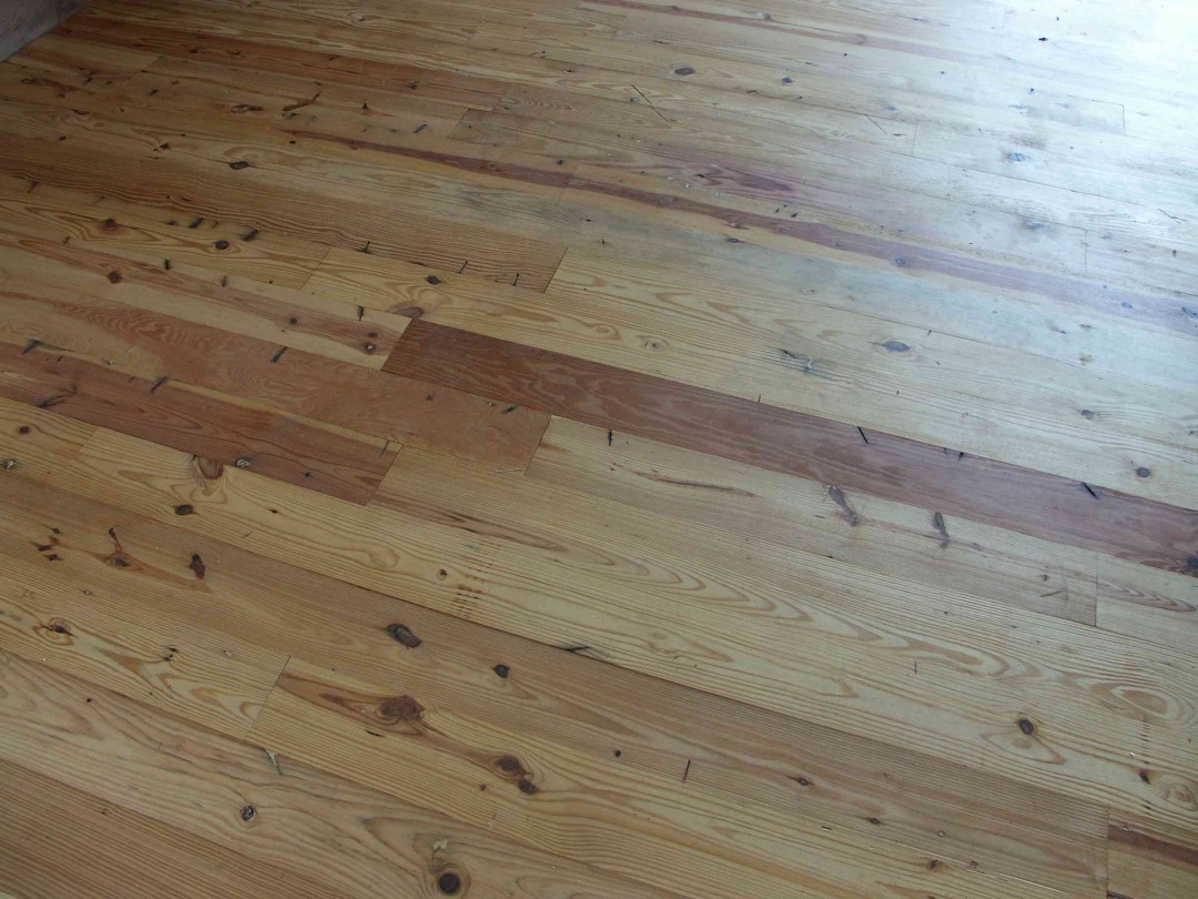 Pine Wood Floor Alternate Angle