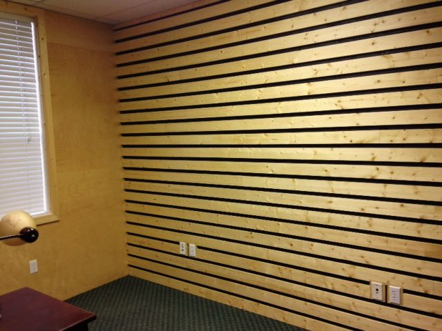 Wall Made from Reclaimed Wood Boards