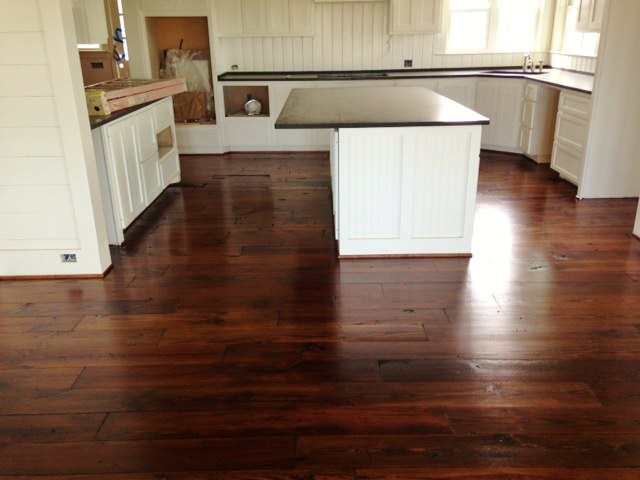 Elegant Reclaimed Kitchen Flooring