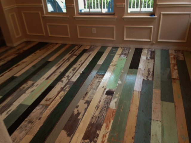 """Mix and Match"" Reclaimed Wood Flooring"