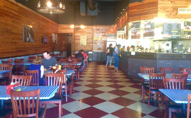 Dickey's BBQ – Pine walls