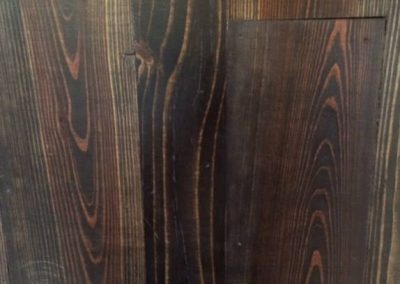 Pine/douglas fir stained Ebony