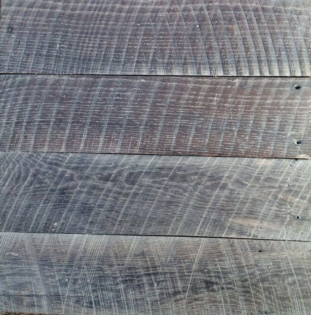 Stained circle sawn oak