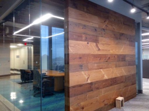 Pine – glass wall, Architect office