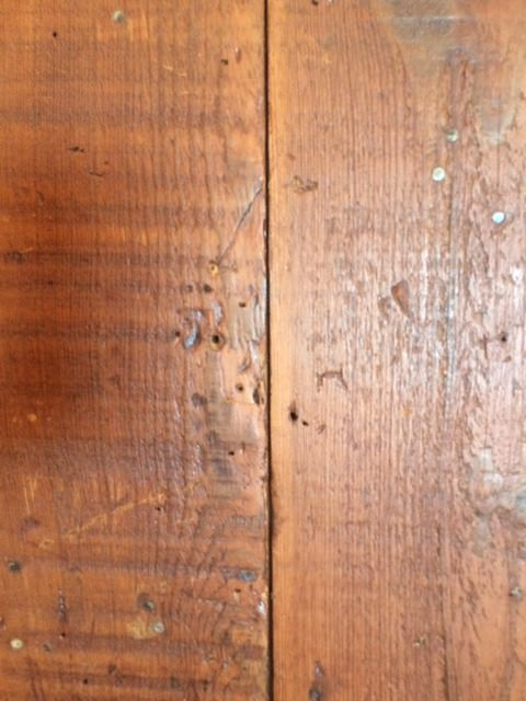 7″-9″ shiplap stained